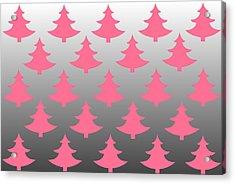 Pink Christmas Acrylic Print