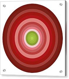 Pink Circles Acrylic Print by Frank Tschakert