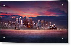 Pink City Acrylic Print