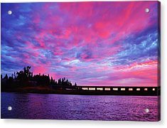 Pink Cloud Invasion Sunset Acrylic Print