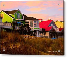 Pink Clouds At Isle Of Palms Acrylic Print by Kendall Kessler
