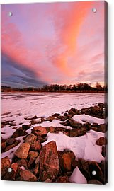Pink Clouds Over Memorial Park Acrylic Print