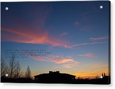 Pink Clouds Acrylic Print by Rima Biswas