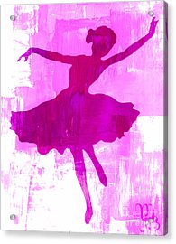 Pink Dancer Acrylic Print by Mindy Bench