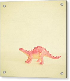 Pink Dinosaur Acrylic Print by Cassia Beck