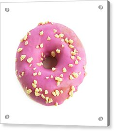 Pink Doughnut Acrylic Print by Science Photo Library