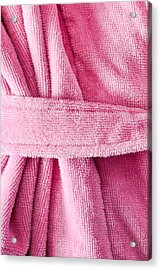 Pink Dressing Gown Acrylic Print by Tom Gowanlock