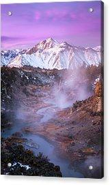 Pink Eastern Sierra Acrylic Print