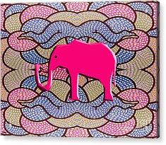 Pink Elephant Acrylic Print by Patrick J Murphy