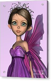 Pink Fairy Acrylic Print by Design Windmill