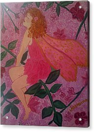Pink Fairy Acrylic Print by Judi Goodwin