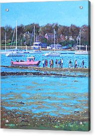 Pink Ferry On The River Hamble Acrylic Print