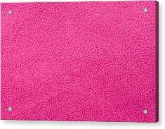 Pink Fleece Acrylic Print by Tom Gowanlock