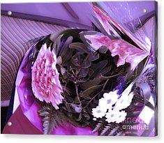 Pink Flowers Acrylic Print by Gabriele Mueller