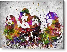 Pink Floyd In Color Acrylic Print by Aged Pixel