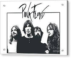 Pink Floyd No.05 Acrylic Print by Caio Caldas