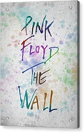 Pink Floyed The Wall Acrylic Print by Aged Pixel