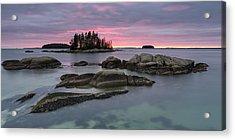 Pink Granite Glow Acrylic Print by Patrick Downey
