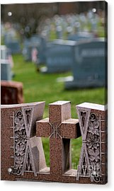Pink Granite Tombstone Acrylic Print by Amy Cicconi
