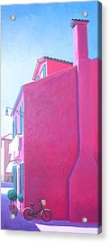 Pink House In Burano Italy Acrylic Print by Jan Matson