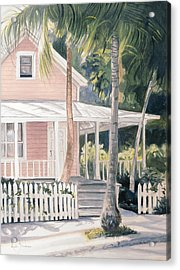 Pink House Acrylic Print by Lucie Bilodeau