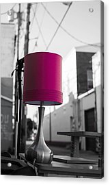 Pink Lamp In The Trash Acrylic Print