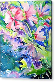Pink Lavatera Profusion Acrylic Print