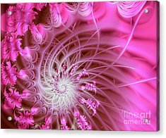 Pink Acrylic Print by Lena Auxier