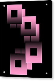 Acrylic Print featuring the digital art Pink Link by Gayle Price Thomas
