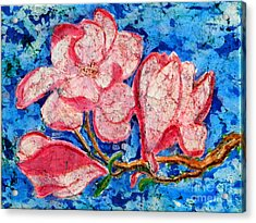 Pink Magnolias Acrylic Print