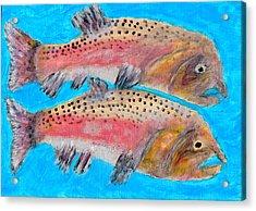 Pink Male Salmon  Acrylic Print