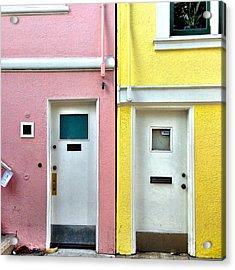 Pink Meets Yellow Acrylic Print