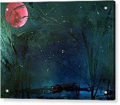 Pink Moon Acrylic Print