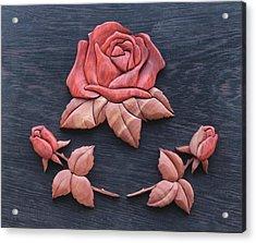 Pink My Lady Rose Acrylic Print by Bill Fugerer