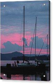 Pink Night Acrylic Print