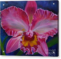 Acrylic Print featuring the painting Pink Orchid by Jenny Lee
