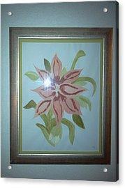 Pink Orchid Acrylic Print by Karen Jensen