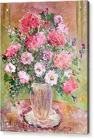 Pink Parfait Acrylic Print by Mary Spyridon Thompson