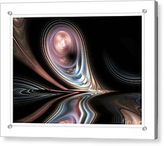 Pink Pearl Acrylic Print by Elaine Manley