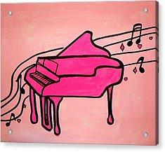 Pink Piano Acrylic Print