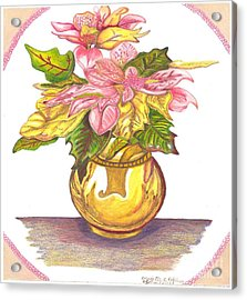 Pink Poinsettia Plant Acrylic Print