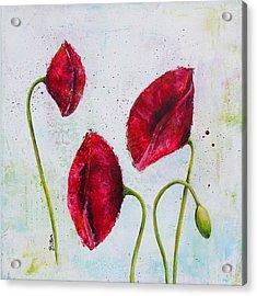 Pink Poppies 2 Acrylic Print by Bitten Kari