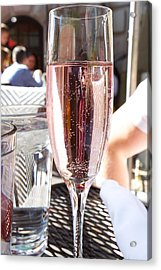 Pink Prosecco Acrylic Print
