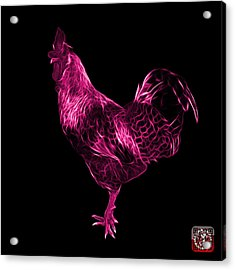 Pink Rooster 3186 F Acrylic Print