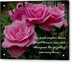 Roses And Thorns Acrylic Print