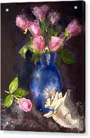 Pink Roses Acrylic Print by Susan Woodward