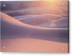 Pink Sand Dunes Acrylic Print
