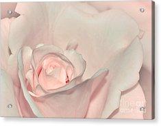 Pink Satin Acrylic Print