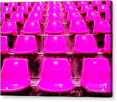 Pink Seats Acrylic Print by Michael Knight