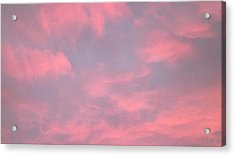 Pink Sky Acrylic Print by John Wartman